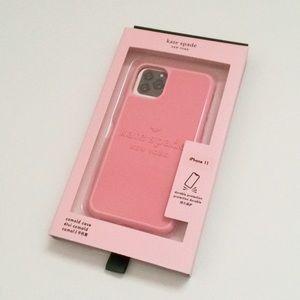 ♠️Kate Spade Logo iPhone 11 Case Pink